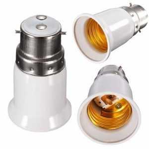 Adaptador de bombilla Bayoneta B22 a soporte de convertidor de lámpara E27 B22 (enchufe macho) a E27 (enchufe hembra)