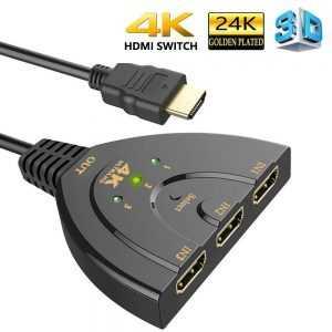 Cable conmutador HDMI 3 en 1