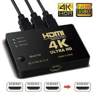 Adaptador HDMI HD 1080P 4K 3x1