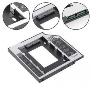 Adaptador disco duro Universal de aluminio 2 ° HDD Caddy 9,5 y 12,7mm SATA 3,0