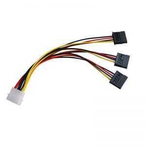 Cable Adaptador 4 Pin a 3 SATA