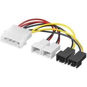 Cables para ventilador de la CPU 4 a 3 pines